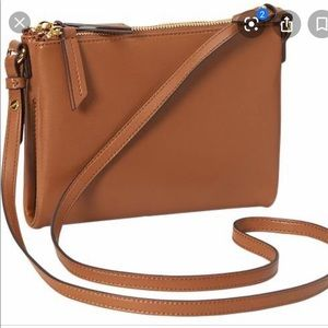 Camel colored Old Navy Faux Leather Crossbody